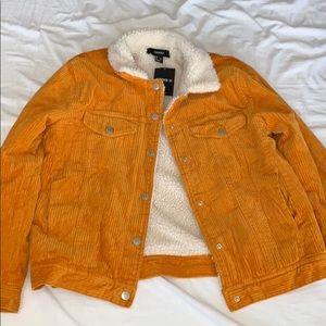 Mustard Sherpa Lined Corduroy Jacket